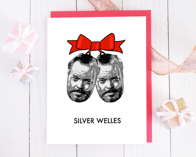 Silver Welles Christmas card set