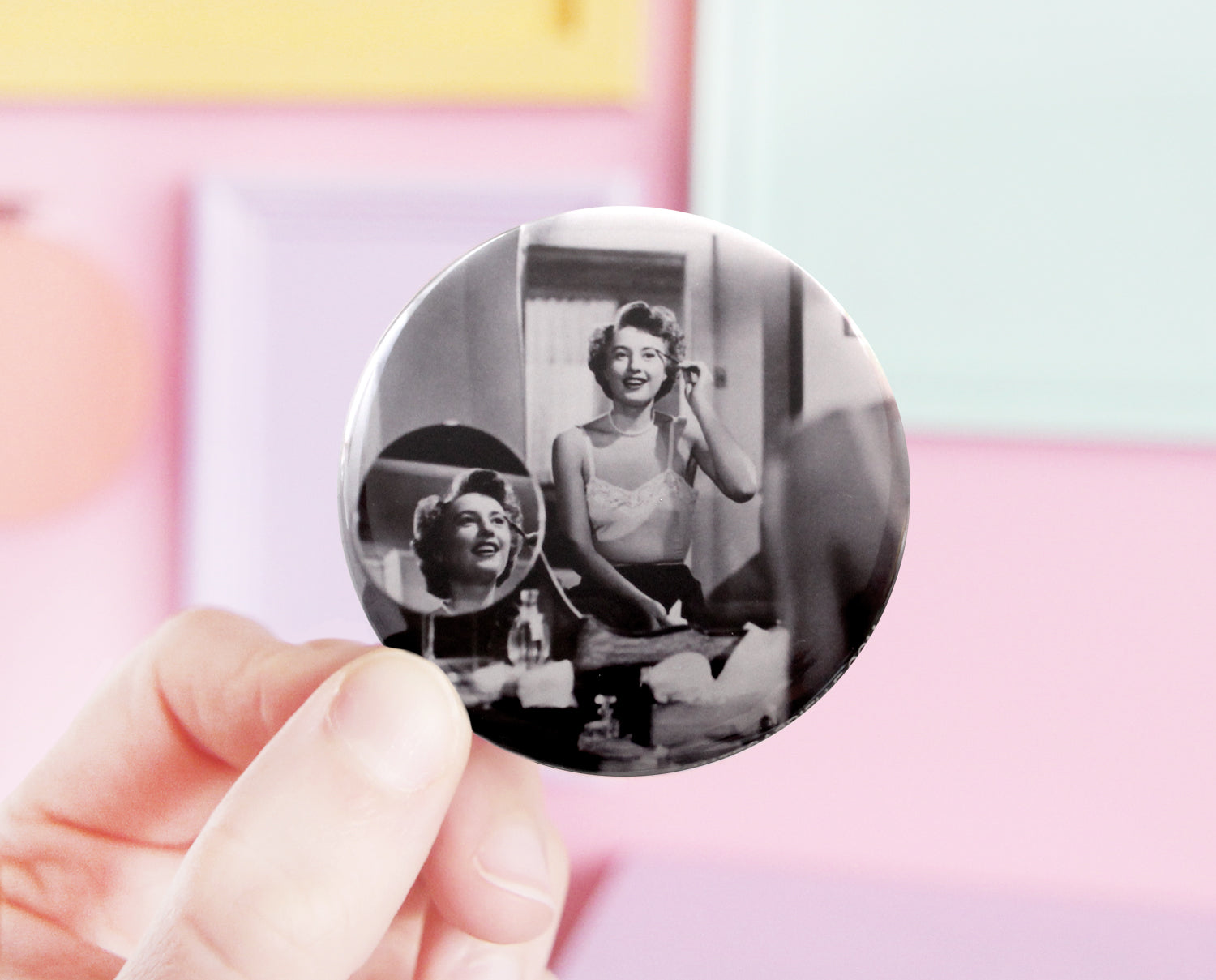 Barbara Stanwyck pocket mirror