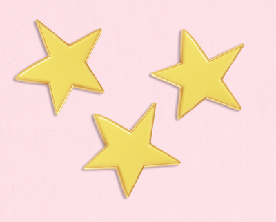 Stars enamel lapel pin set