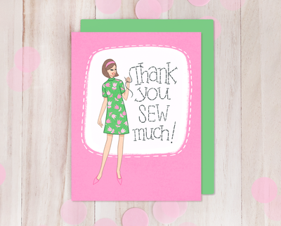 Thank You retro style greeting card
