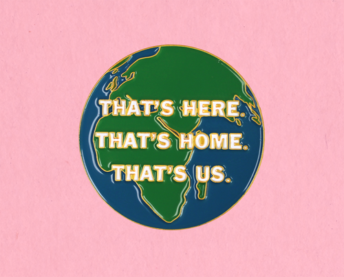 That's Home enamel lapel pin