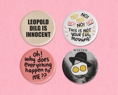 The Talk of the Town button or magnet set