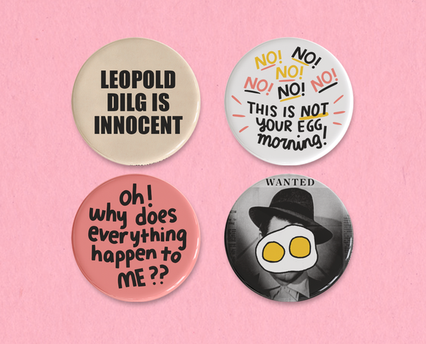 The Talk of the Town button set