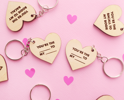 Custom couples or BFFs keychain set