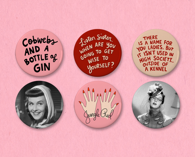 The Women button or magnet set