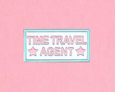 Time Travel Agent enamel lapel pin