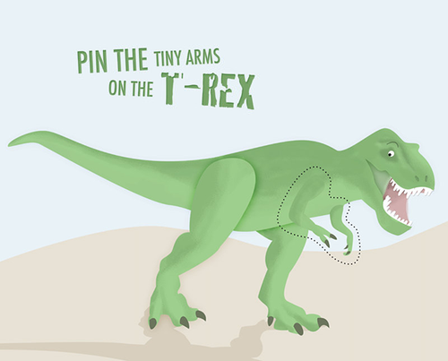 Printable T-Rex party game
