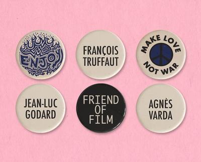 Agnes Varda button or magnet set