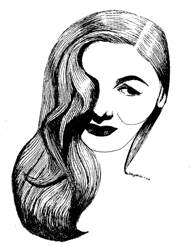 Veronica Lake art print