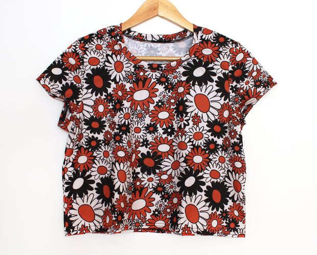 Vintage inspired floral crop top