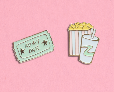 Movie enamel lapel pin set