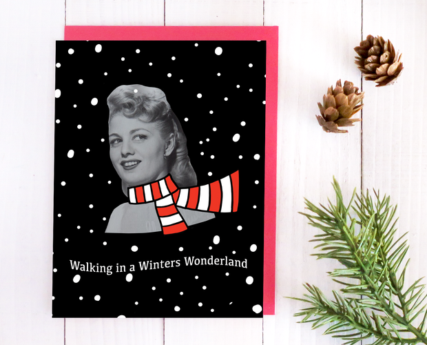 Walking in a Winters Wonderland Christmas card