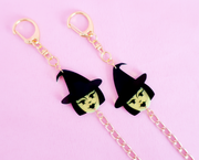 Halloween witches face mask chain