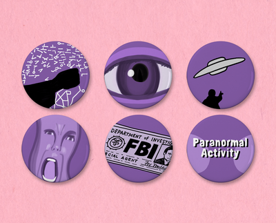 X-Files Opening Credits button set #1