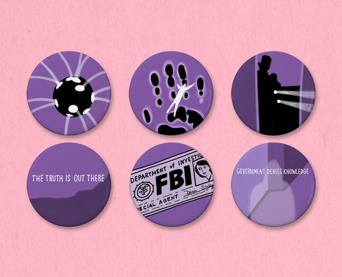 X-Files Opening Credits button or magnet set #2