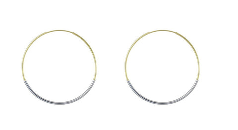 Sea Tube Hoops - Gold