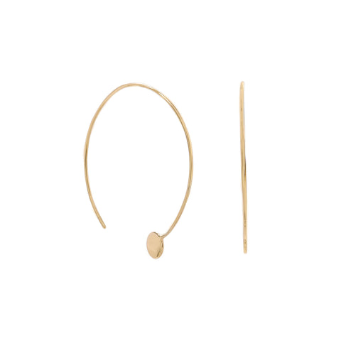 Dot Threader Hoop Earrings | Gold