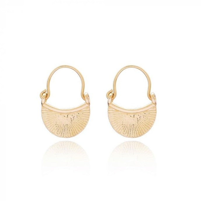 Rays of Light Earrings | Gold