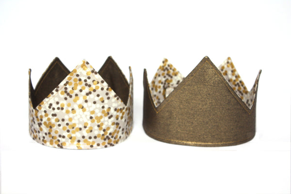 Reversible Party Crown | Gold/ Grey