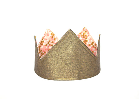 Reversible Party Crown - Gold/ Pink