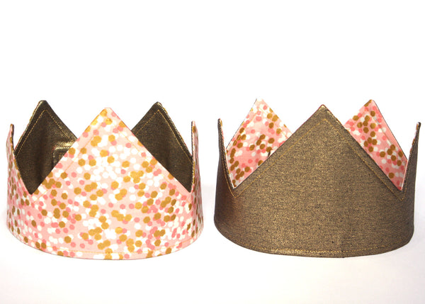 Reversible Party Crown | Gold/ Pink