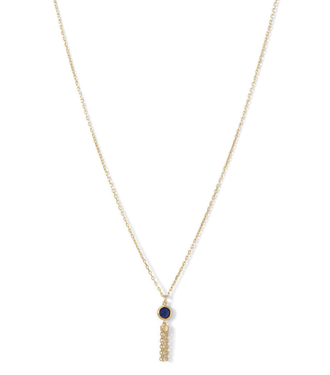 Lapis Tassle Necklace