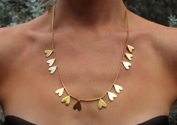 Akoma Necklace | Gold