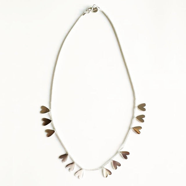 Akoma Necklace in Silver