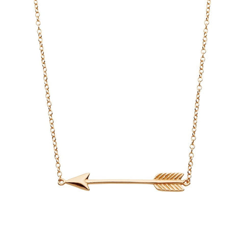 Arrow Necklace - Rose Gold