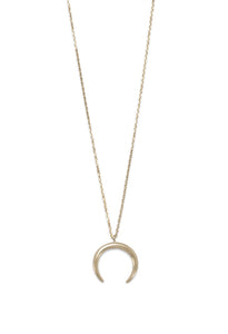 Crescent Moon Necklace | Gold