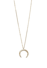 Crescent Moon Necklace - Gold