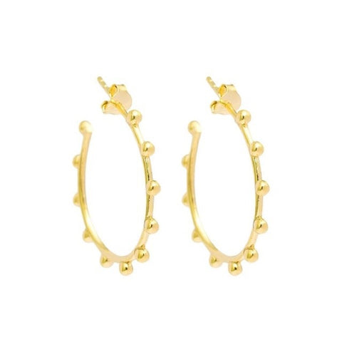 Pebble Hoop Earrings | Gold