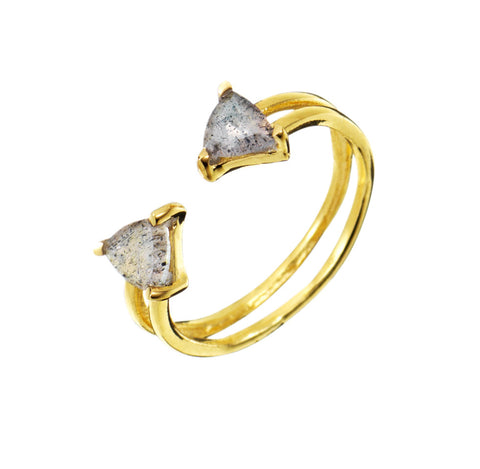 Shark Fin Ring - Gold