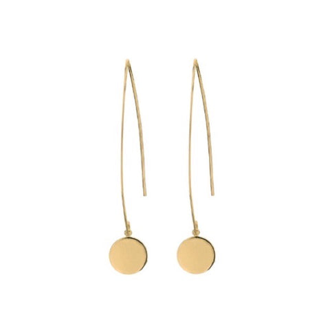Dotty Drop Earrings | Gold