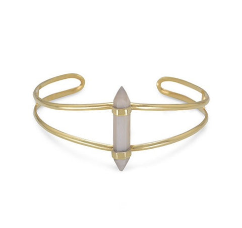 Grey Moonstone Bangle