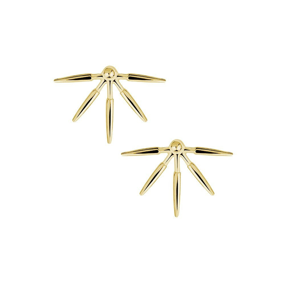 Spiked Earrings in Gold