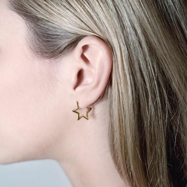 Star Hoops - Gold