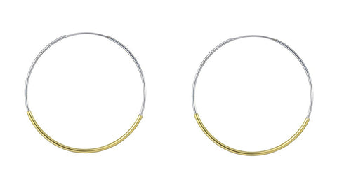 Sea Tube Hoops - Silver