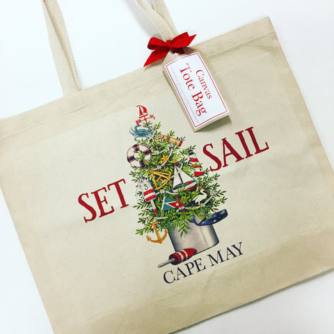 Cape May Christmas Canvas Bag