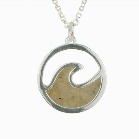 Cape May Beach Sand - Wave Necklace