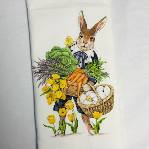 Rabbit Gardener Flour Sack Towel