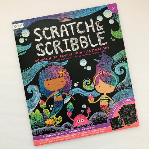 Scratch & Scribble Mermaids