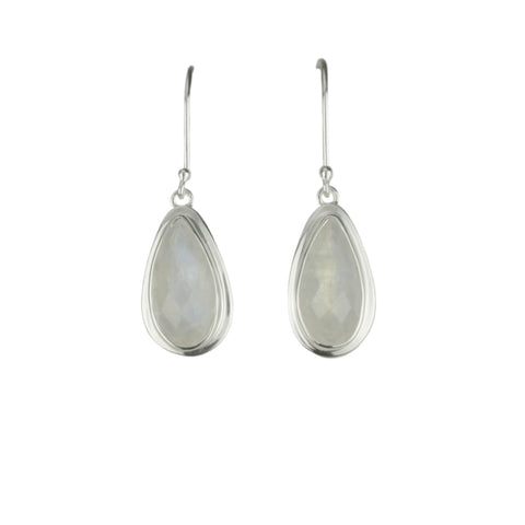 Pear Moonstone Drop Earrings