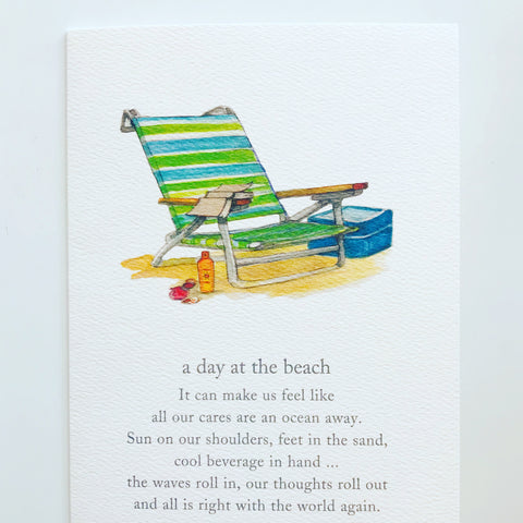 BEACH CHAIR W/ TEXT - BIRTHDAY