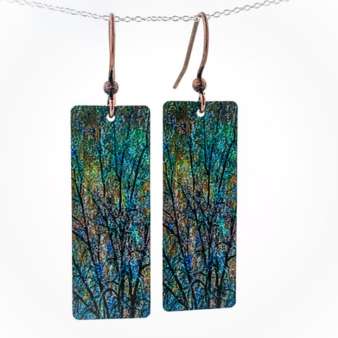 Rectangle Trees Earrings