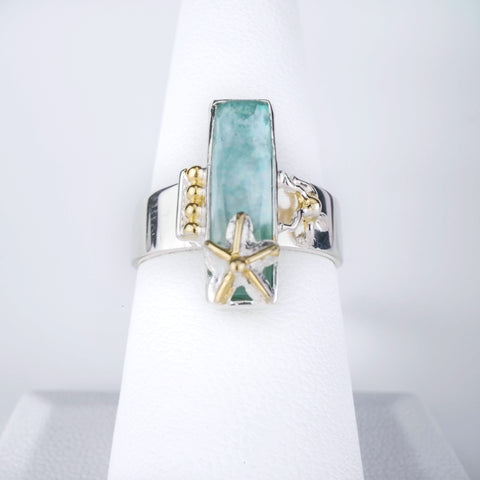 Michou Amazonite Bar Ring