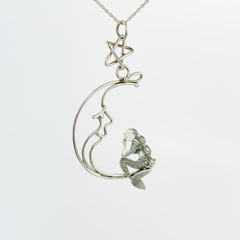 Wish Mermaid w/ Wire Moon