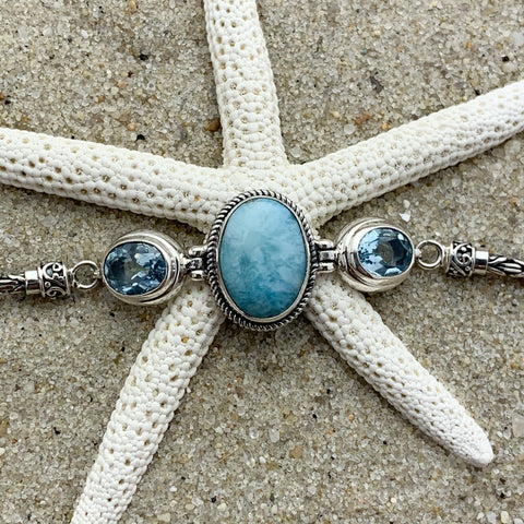 Larimar and Blue Topaz Bracelet
