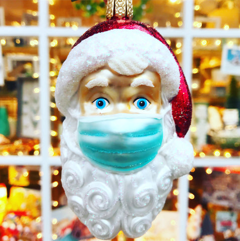 Santa Wearing Face Mask