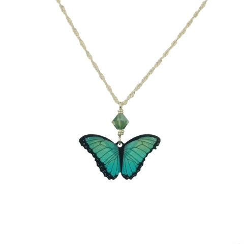 Green Butterfly Neckace